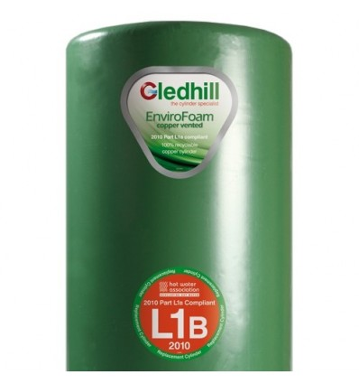 "Gledhill Stainless Steel Cylinder 48"" X 18"" 2-Coil Insulated"