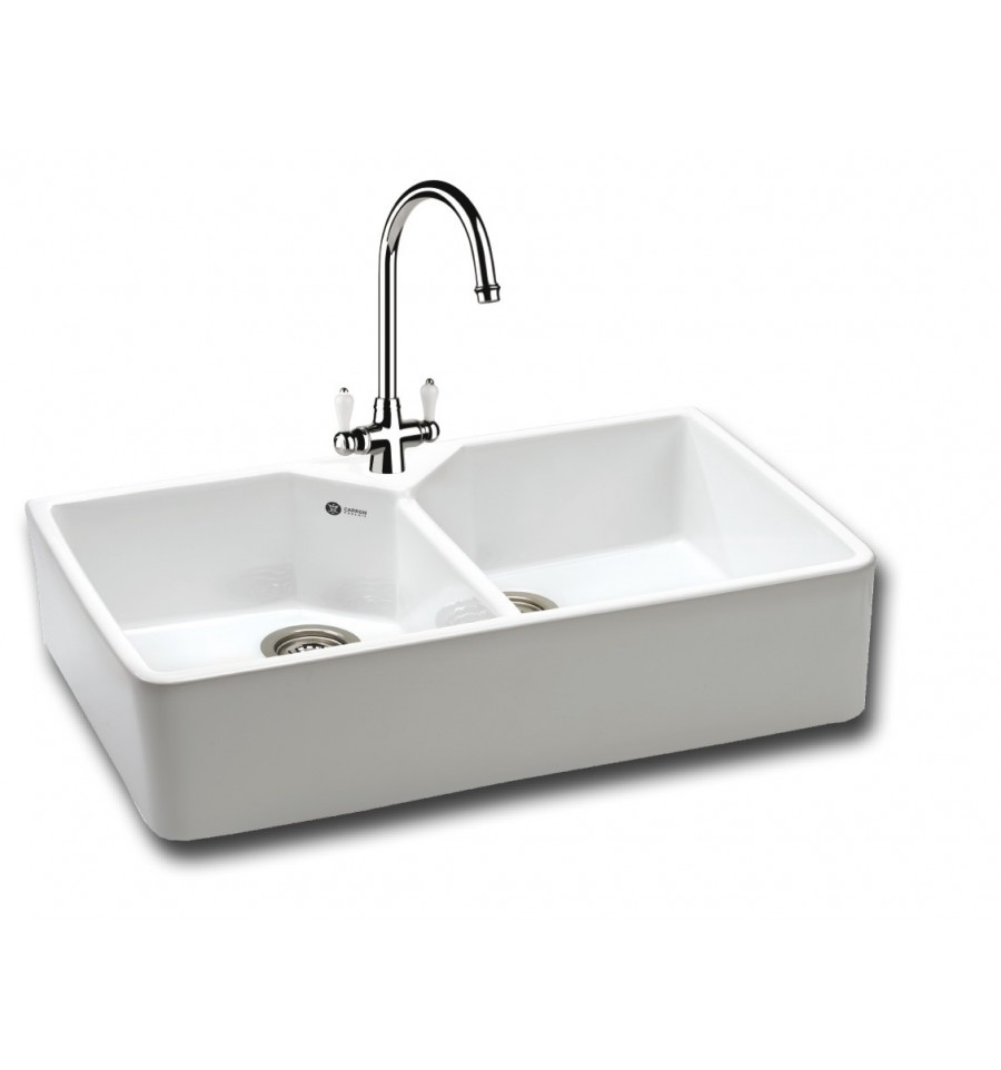 Belfast Kitchen Sink : Carron Phoenix 200 Ceramic Double Bowl Belfast Kitchen Sink