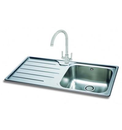Kitchen Sink Phoenix : Carron Phoenix Isis 100 Stainless Steel Inset Kitchen Sink