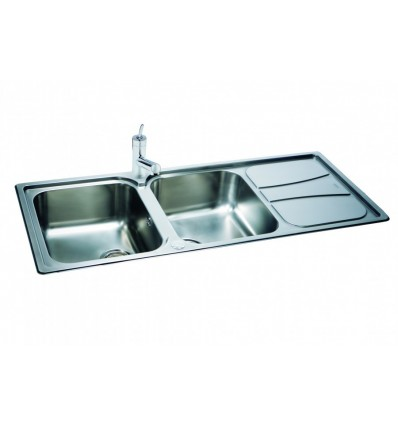 ... Zeta 215 Stainless Steel Inset Double Bowl Kitchen Sink Reversible
