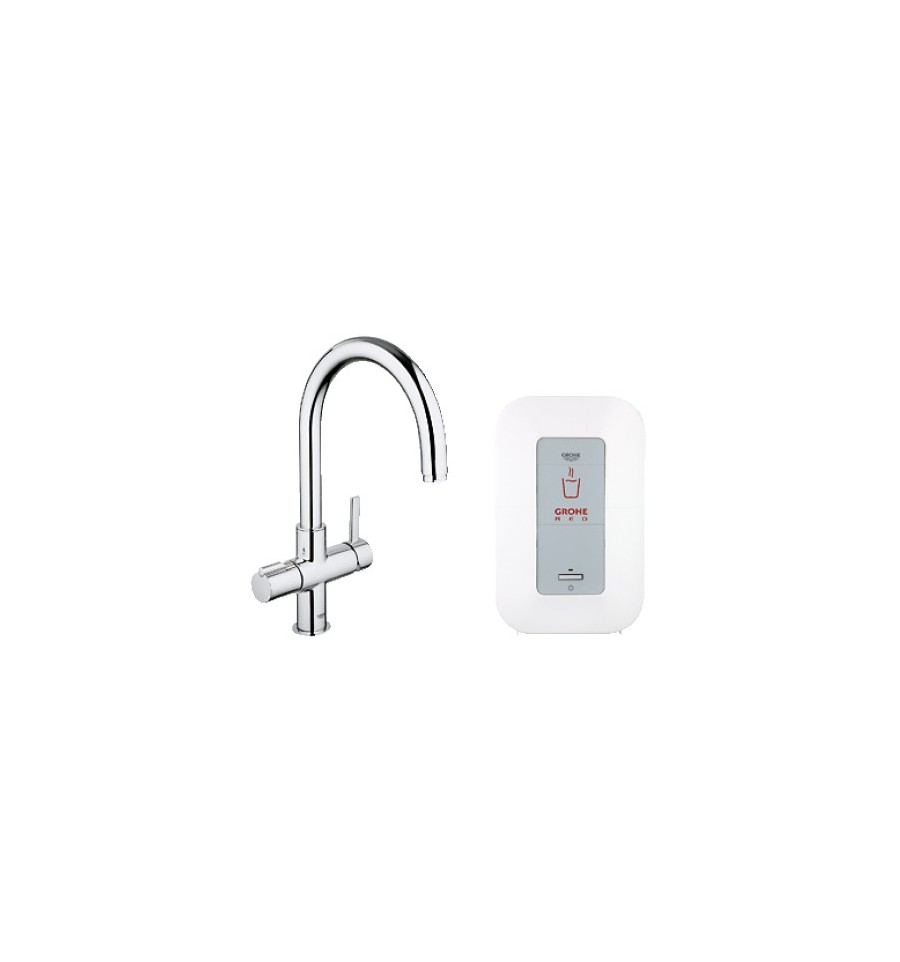 grohe red duo faucet single boiler 4 litres c spout. Black Bedroom Furniture Sets. Home Design Ideas