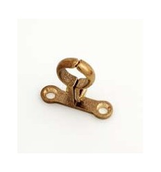 Brass Screw To Wall Bracket 1/2""