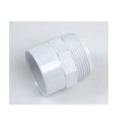 White Waste Male Adapter 2""