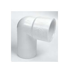 White Waste Male-Female Elbow 1 1/4""