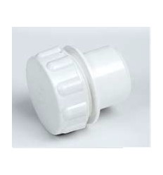 White Waste Access Cap 1 1/4""