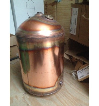 Copper cylinder grade 2 plain 42x18 twin coil for Copper hot water tank