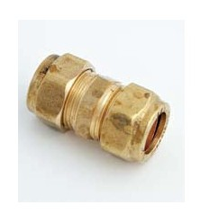 "Compression Coupling Brass 1"" X 1/2"""
