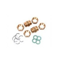 Solar DN16 Nut Fitting Joiner Pack (4 Nipples, Gaskets, Nuts & Circlips)
