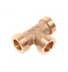 "Brass Solar Tee 3/4"" Male Equal"