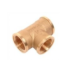 "Brass Solar Tee 3/4"" Female Equal"