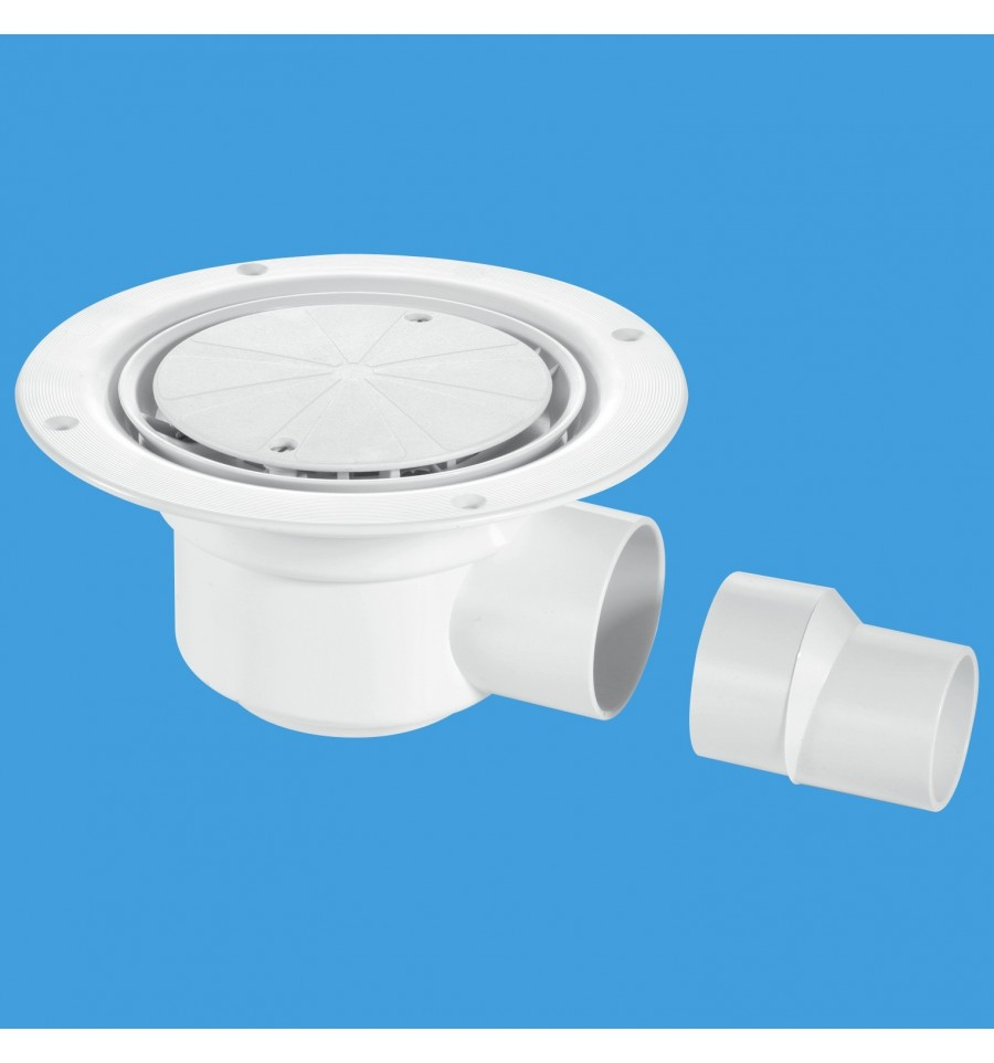 sc 1 st  Plumbing Products & McAlpine Trapped Shower Gully 50mm Seal White Plastic Cover Plate