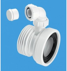 "McAlpine Straight WC Connector With 1 1/4"" Universal Boss"