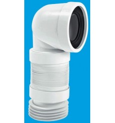 McAlpine Flexible 90° Bend WC Connector (230mm - 390mm)