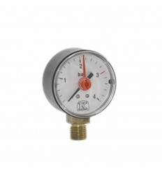 "Pressure Gauge 1/4"" 4 Bar Vertical Connection"
