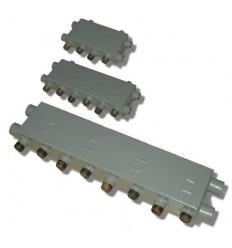 """SystemZone 6, 1 1/4"""" X 1"""" X 1"""" X """"1 X 1"""" Manifold (2 Boiler, 5 Zone)"""
