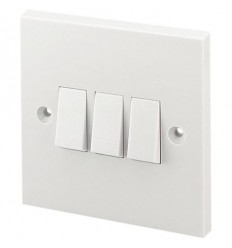 Electrical 3 Gang 2 Way Plate Switch