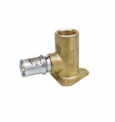 "Multilayer Crimp Wallplate Elbow 1/2"" X 16mm"
