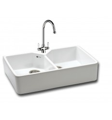 Carron Phoenix 200 Ceramic Double Bowl Belfast Kitchen Sink