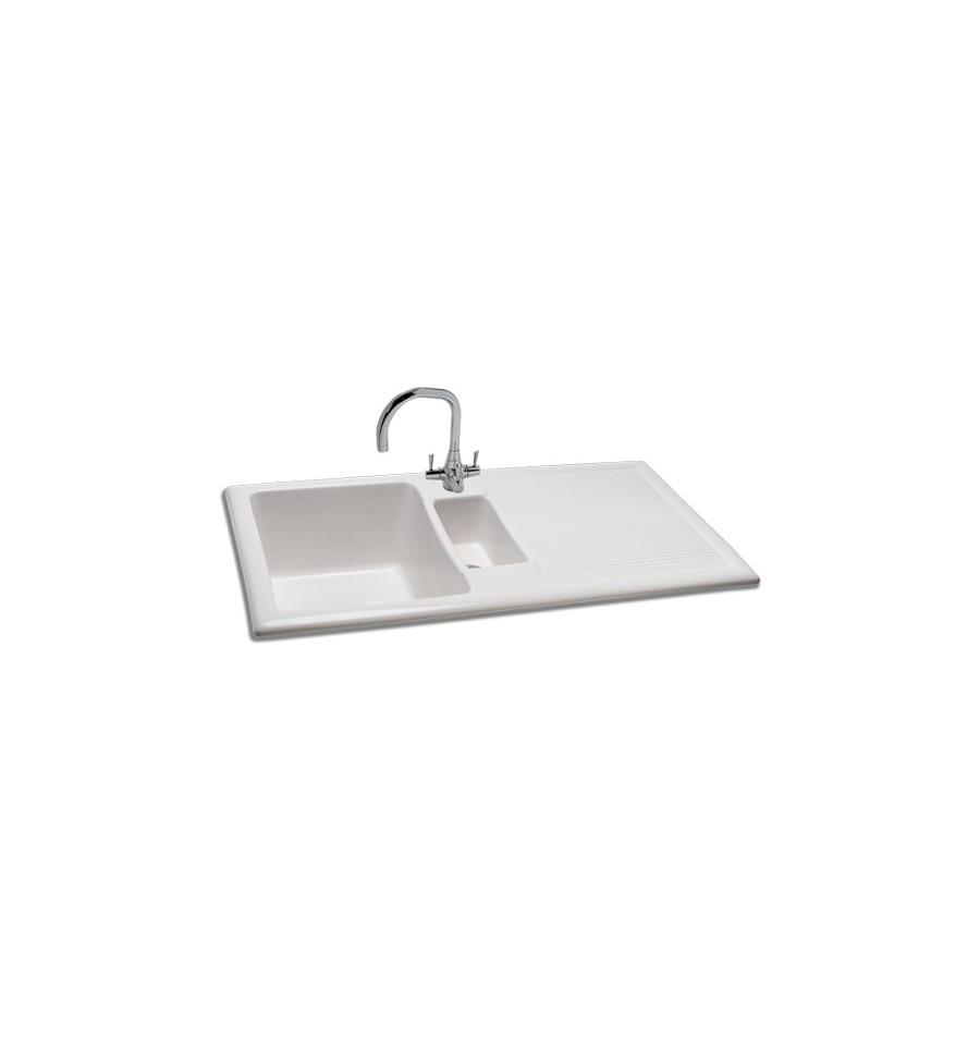 Carron Phoenix Shonelle 150 Ceramic Inset Bowl & Half Kitchen Sink ...