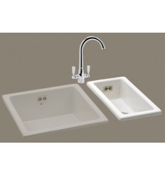 Carron Phoenix Waterford 50 Ceramic Kitchen Sink (White)