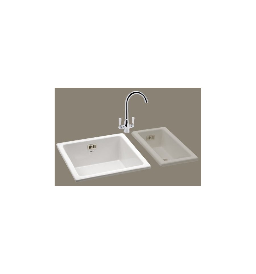 Carron Phoenix Waterford 100 Ceramic Kitchen Sink (White)