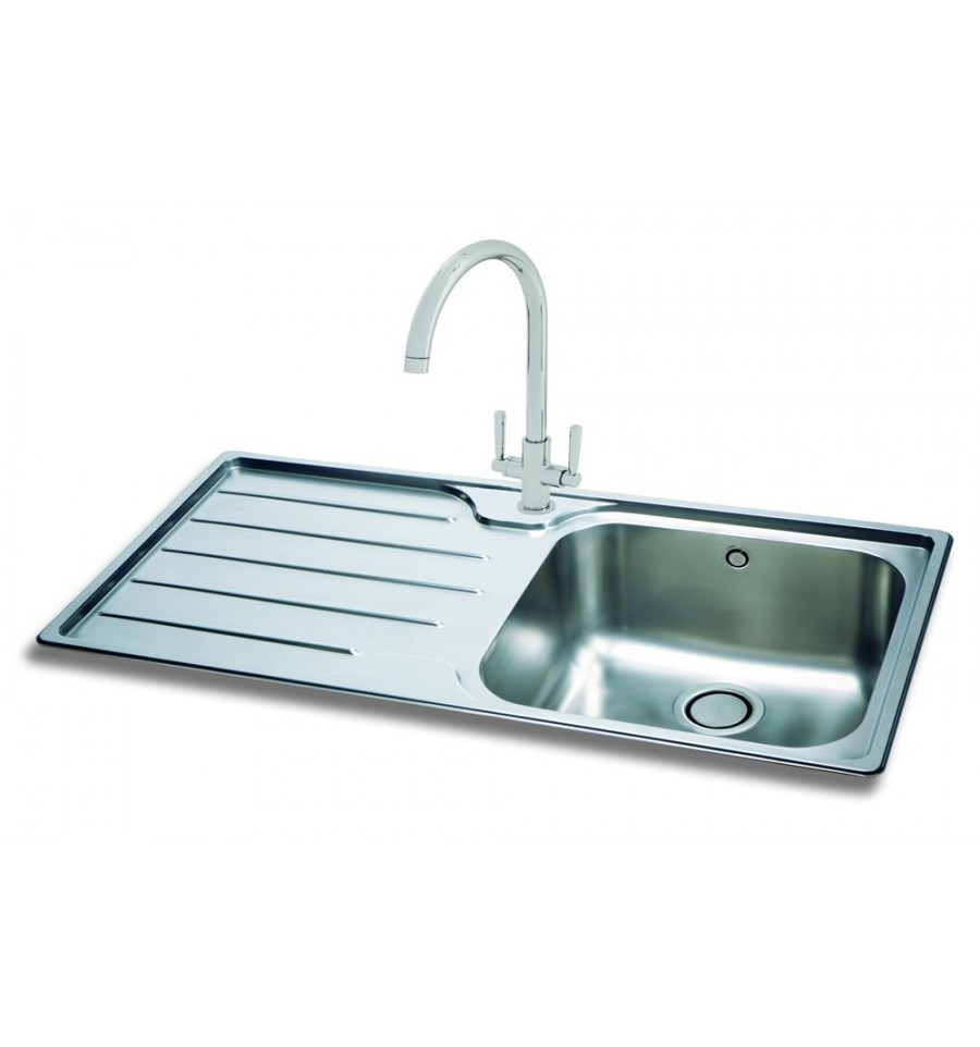 kitchen sink phoenix carron 100 stainless steel inset kitchen sink 2816