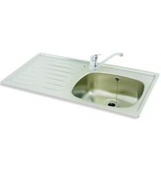 Carron Phoenix 1SD 1244 1 Tap-Hole Stainless Steel Inset Kitchen Sink
