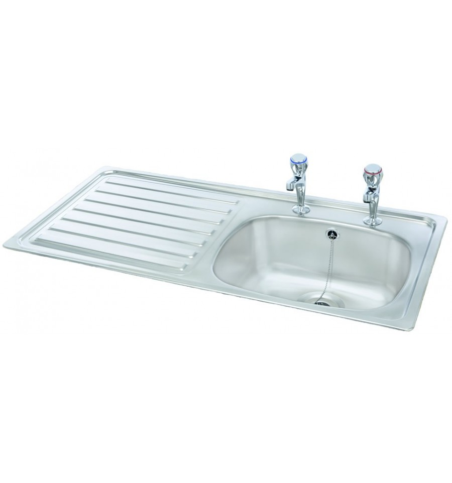 Carron Phoenix 1SDT 2 Tap-Hole Stainless Steel Inset Kitchen Sink