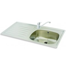 Carron Phoenix 1SD 1 Tap-Hole Stainless Steel Inset Kitchen Sink