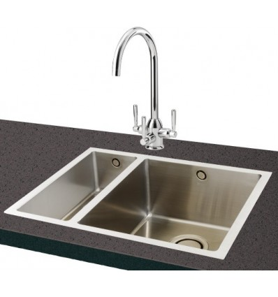 inset kitchen sink carron deca 150 stainless steel kitchen sink inset 1870
