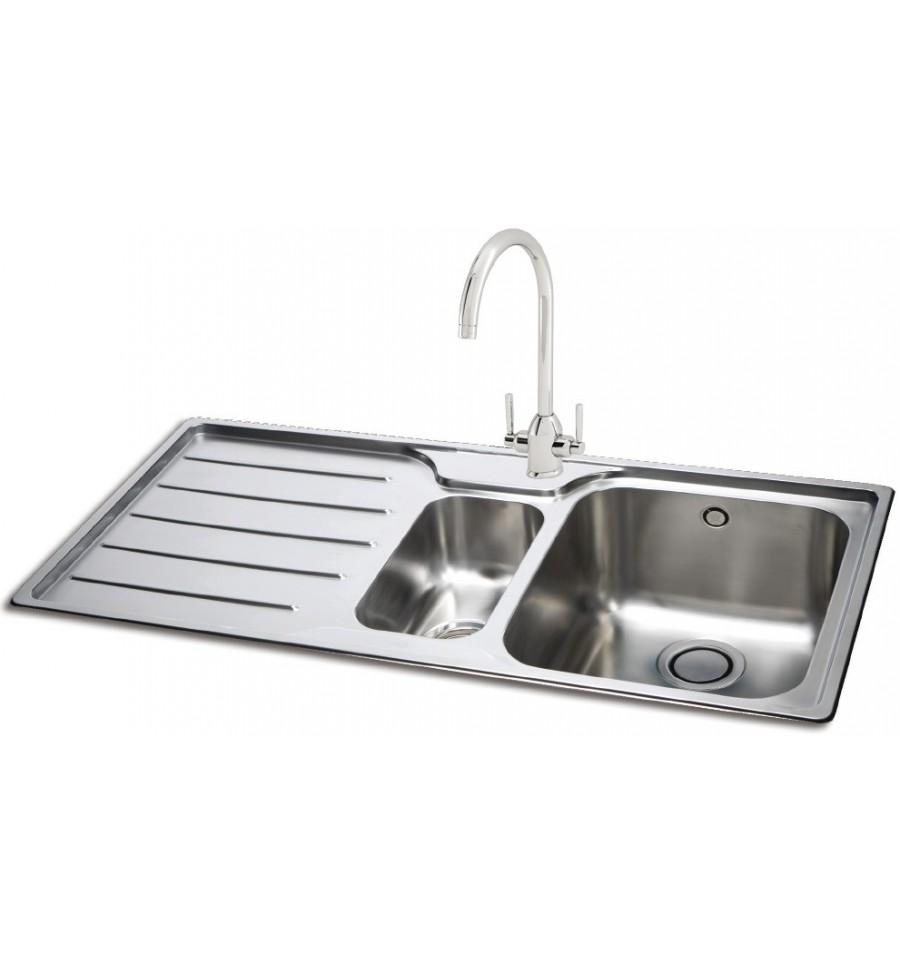 Kitchen Sinks Phoenix Carron phoenix isis 150 stainless steel bowl half inset kitchen sink workwithnaturefo
