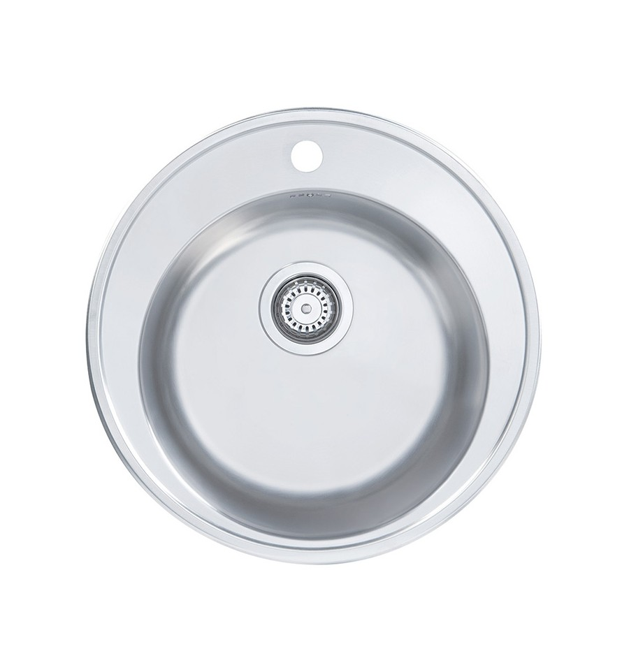 Inset Kitchen Sink Sapphire round single bowl classic inset kitchen sink with tap hole workwithnaturefo