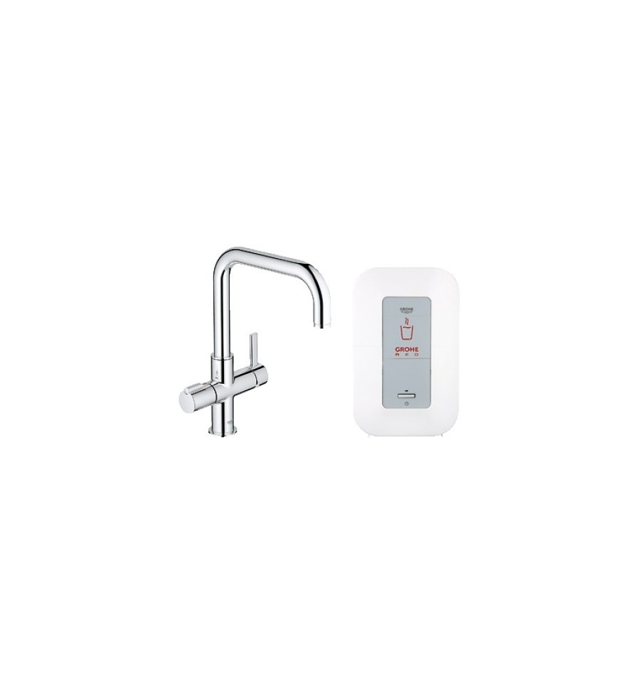 grohe red duo faucet single boiler 4 litres u spout. Black Bedroom Furniture Sets. Home Design Ideas