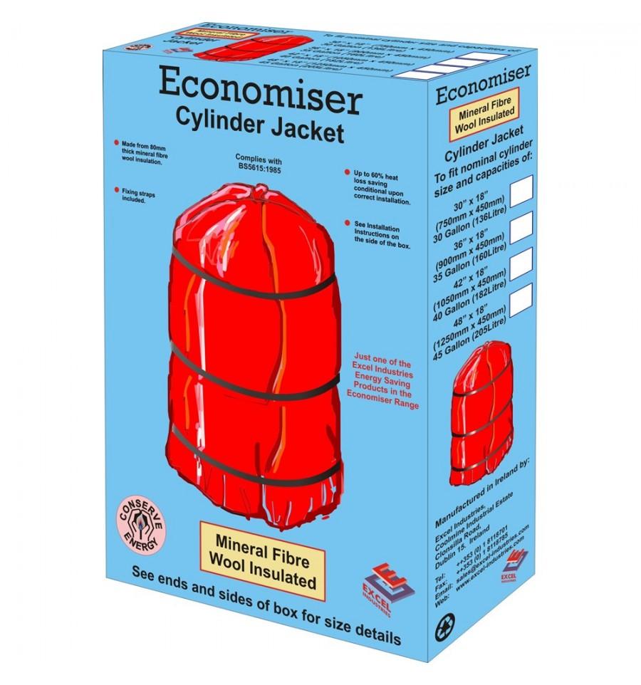 Economiser Mineral Fibre Wool Cylinder Jacket / Lagging Jacket (30\
