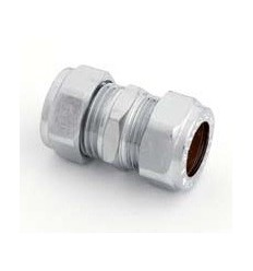 Chrome 310 Compression Coupling 22mm