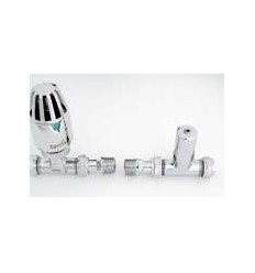Pegler Straight TRV & Lockshield Pack, Chrome Plated 1/2""
