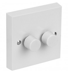 Electrical 2 Gang 2 Way 400W Dimmer Switch