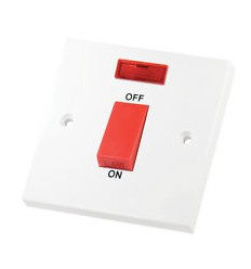 Electrical 45A Single Cooker Switch