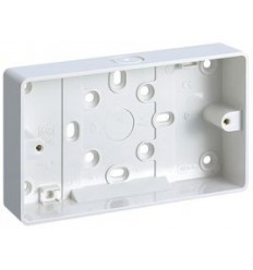 Electrical 2 Gang Socket Box 25mm