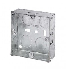 Electrical 1 Gang Switch Box Galvanised Steel