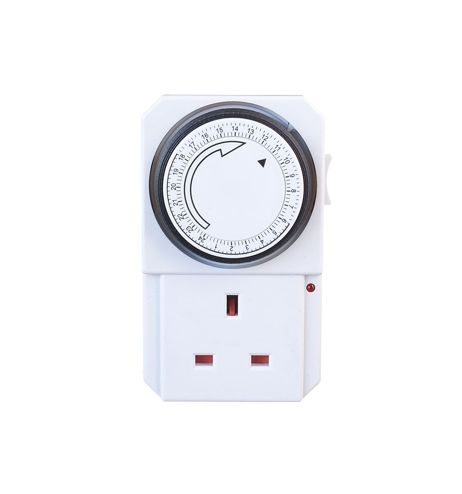 electrical 13a fused 24 hour plug in timer fused junction box