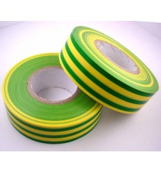 Electrical 20m Insulating Tape Earth Green/ Yellow