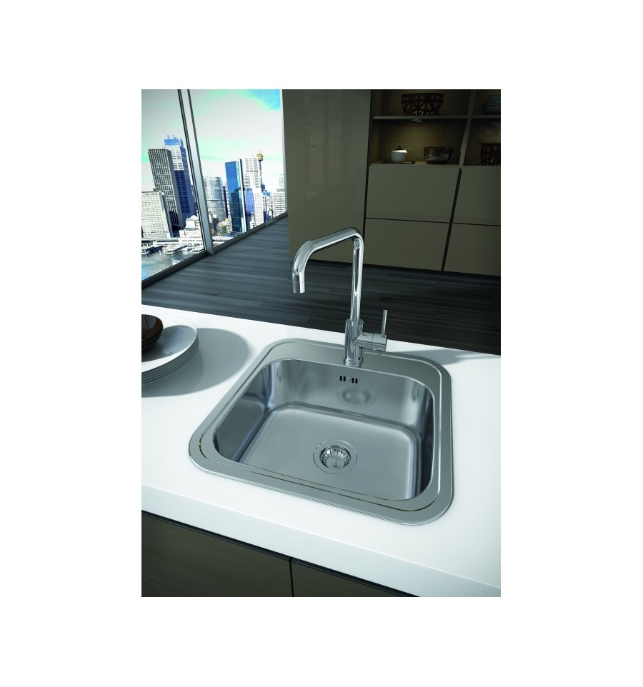 Carron Phoenix Pacific 50 Stainless Steel Inset Kitchen Sink