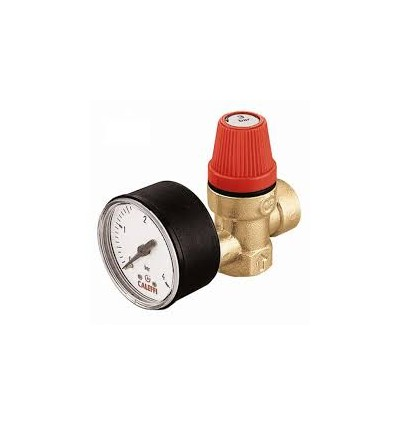 Caleffi - Safety relief valve. Female connections. With pressure gauge.
