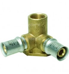 """MHS Crimp Fitting Wallplate Double Elbow 16mmx16mm X 1/2"""""""