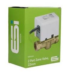 ESi - 2 Port 22mm Motorised Zone Valve (Replaces V4043H1056) ESZV222L by ESI