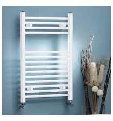 Towel Warmer Curved White 760mm X 500mm