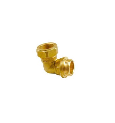"Male Compression Elbow 15mm Metric (1/2"" bsp tread)"