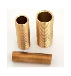 "Long Brass Nipple 1/2"" X 2"""