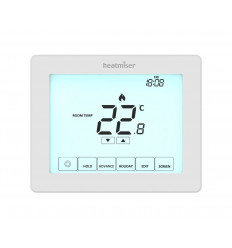 Heatmiser Touch is our 230v Touchscreen, programmable room thermostat